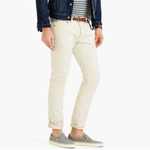 $198 J. Crew Selvedge 484 Slim Jeans Wheat 30x30